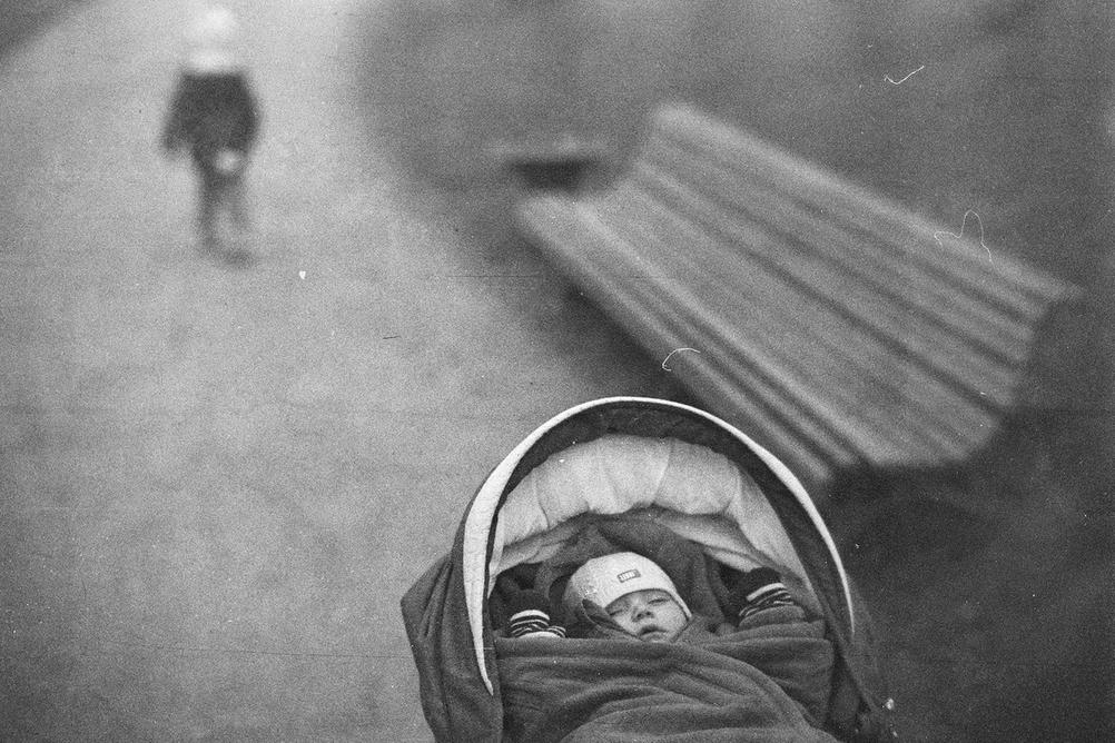 Photo of a baby sleeping.