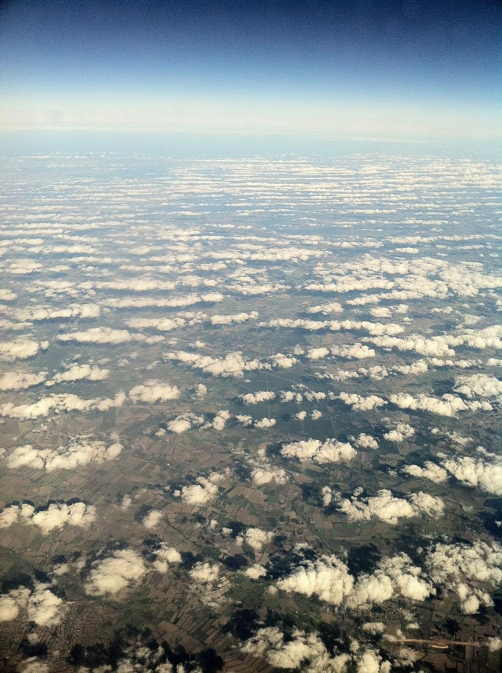 Photo taken from a plane.