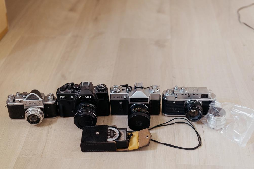 Old soviet photography gear.