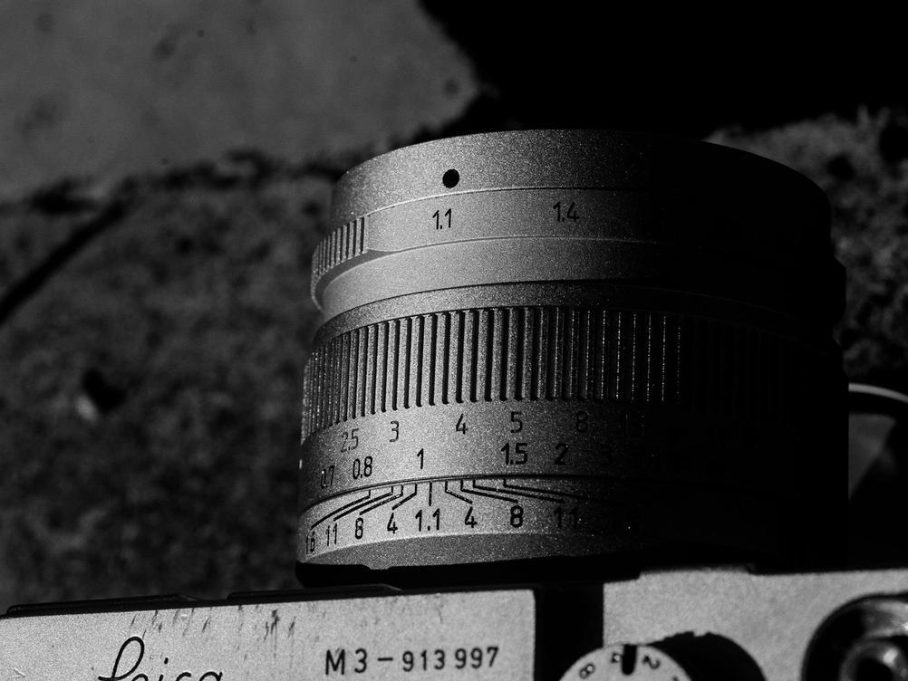 Photo of 7Artisans 50mm f1.1 lens.