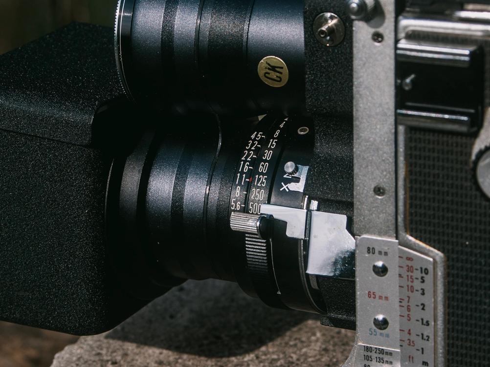 Photo of Mamiya Super-Sekor 180mm f4.5 controls.