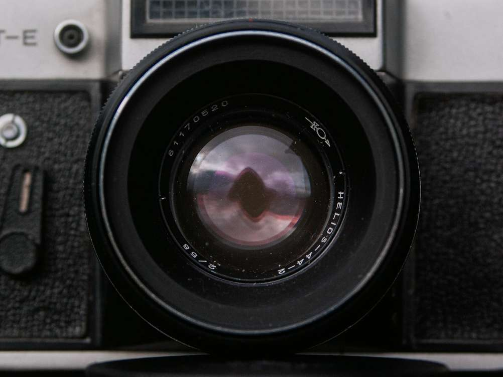 Front of the Helios-44-2 lens.
