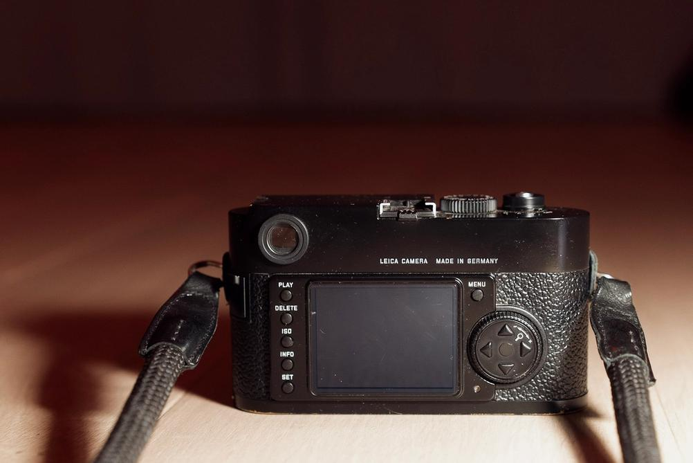 Back of Leica M9 camera.