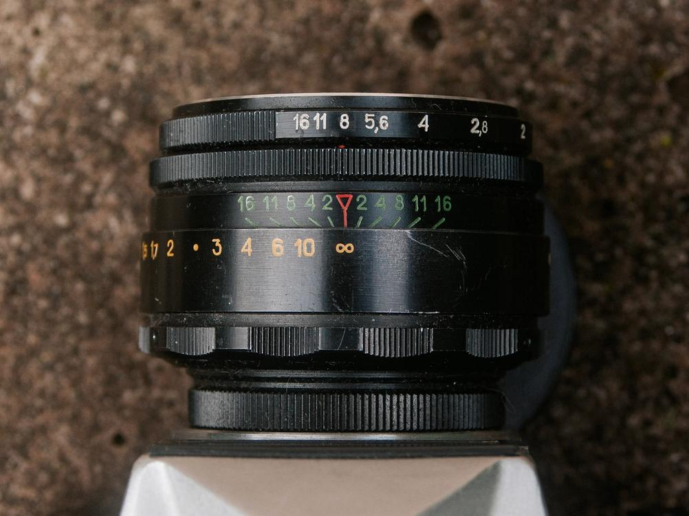 Photo of Helios-44-2 aperture ring.