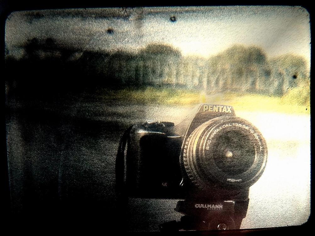 Photo of a Pentax dSLR camera.