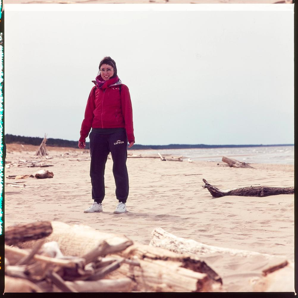 Photo of my wife on the beach.