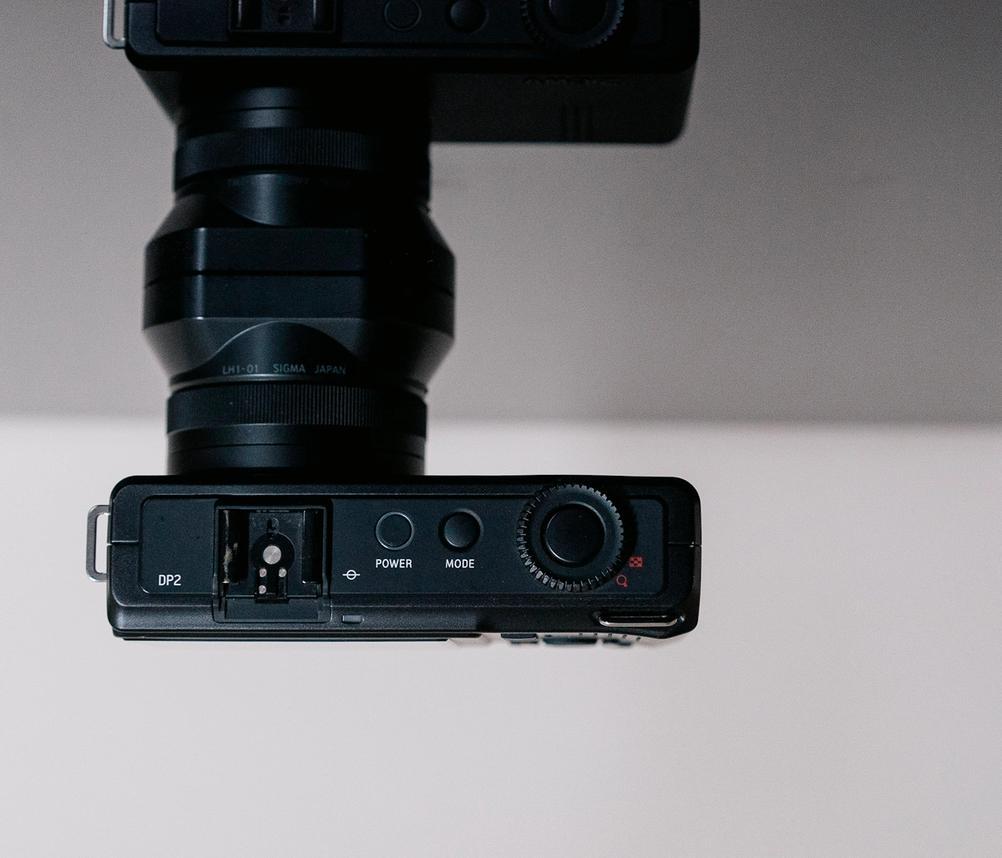 Photo of Sigma DP2 Merrill top controls.