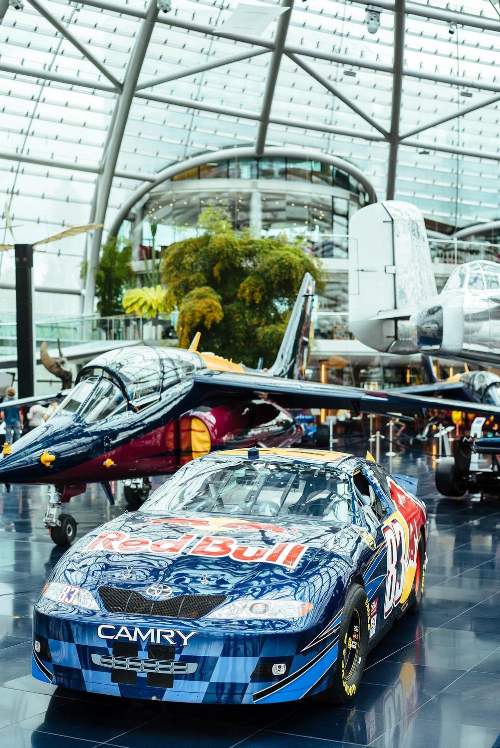 Photo of a car in RedBull museum.