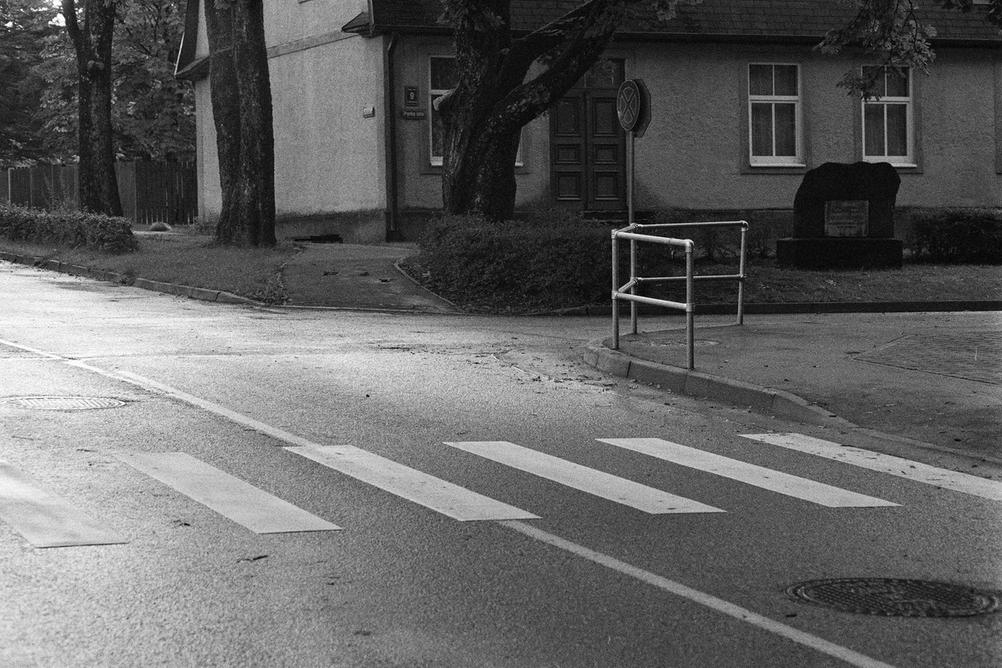 Photo of a street crossing.