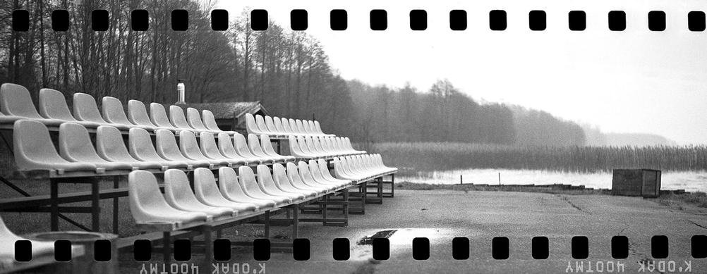 Benches next to a lake - scanned with sprockets.