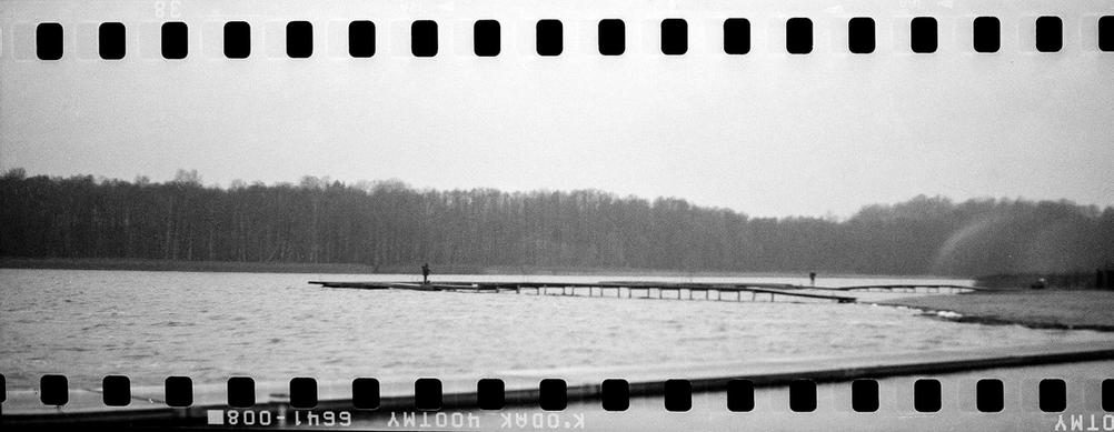 People on lake - scanned with sprockets.