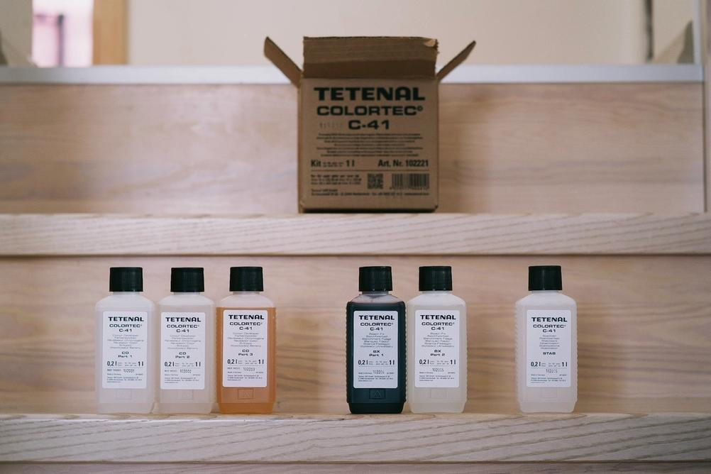 Contents of Tetenal Colortec C-41 Kit.