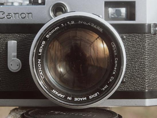 Canon 50mm f1.2 LTM from the front.
