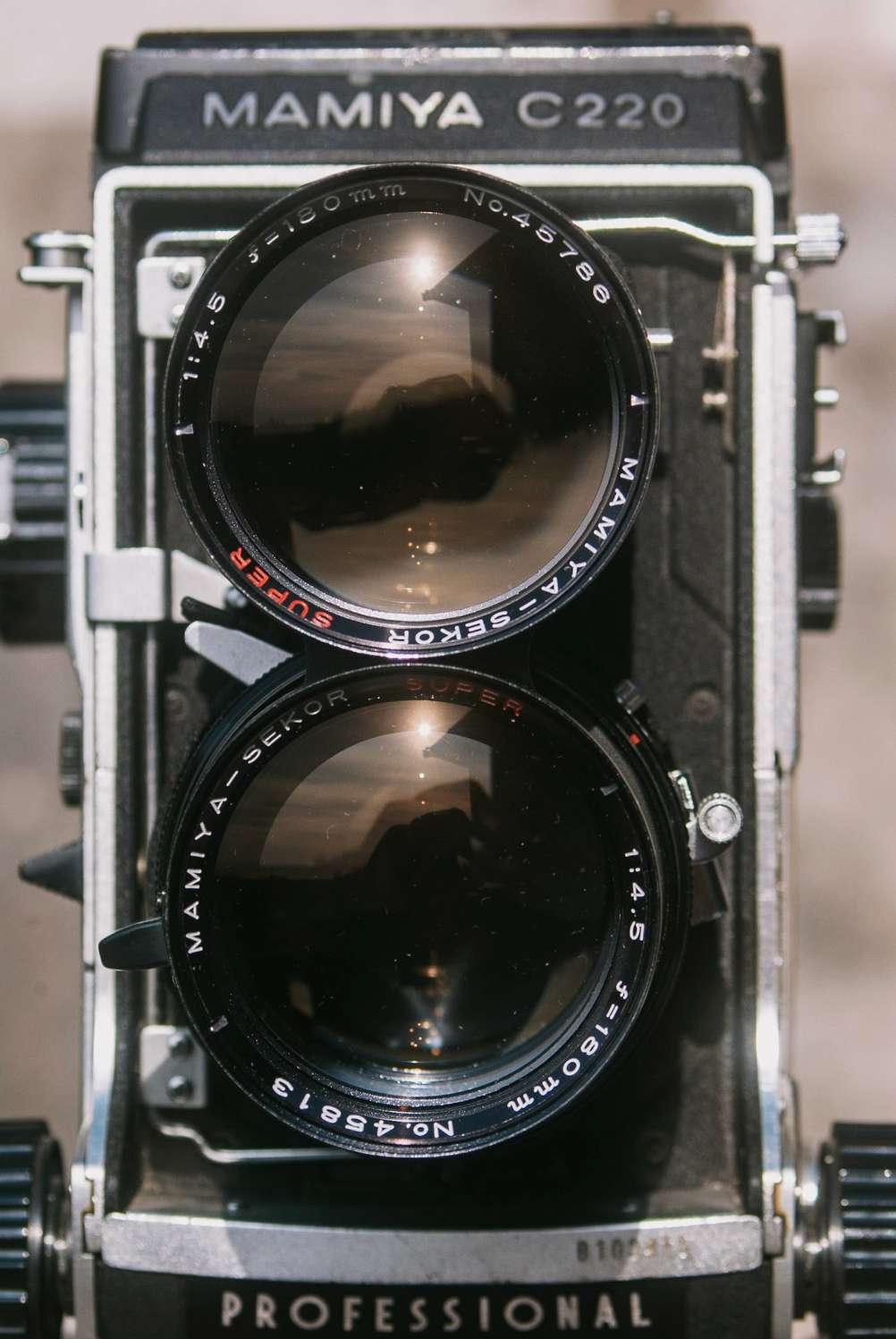 Frontal photo of Mamiya Super-Sekor 180mm f4.5
