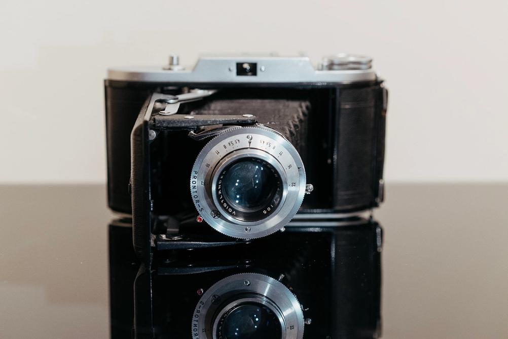 Lens front of the Voigtländer Bessa I.