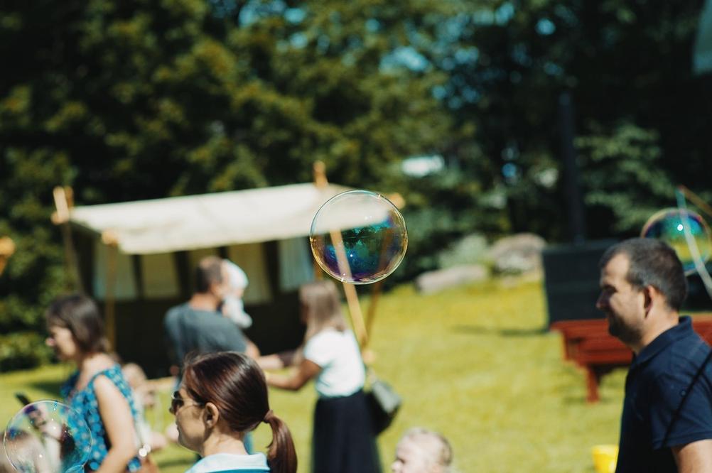 Photo of a soap bubble.