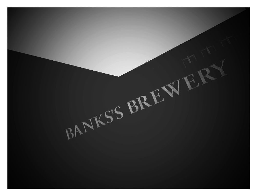 Photo of a brewery sign.