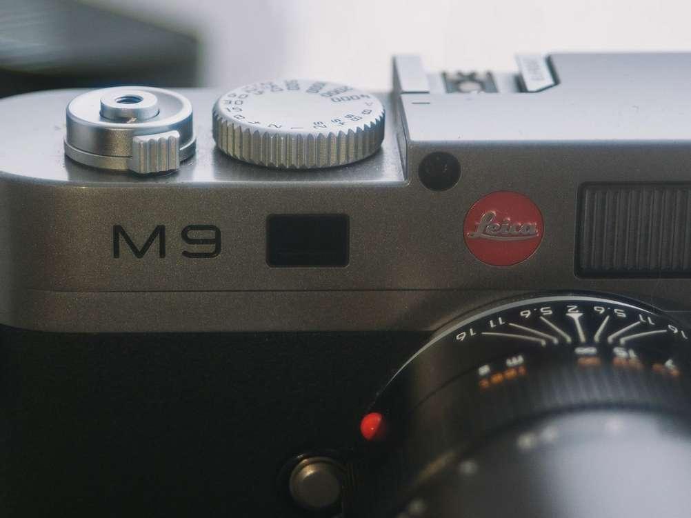 Closeup of Leica M9.