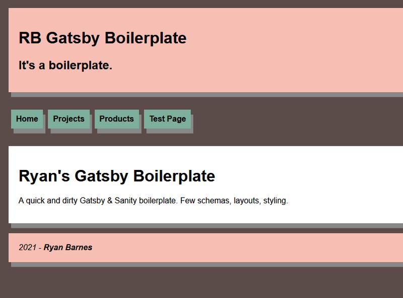 Gatsby & Sanity Boilerplate