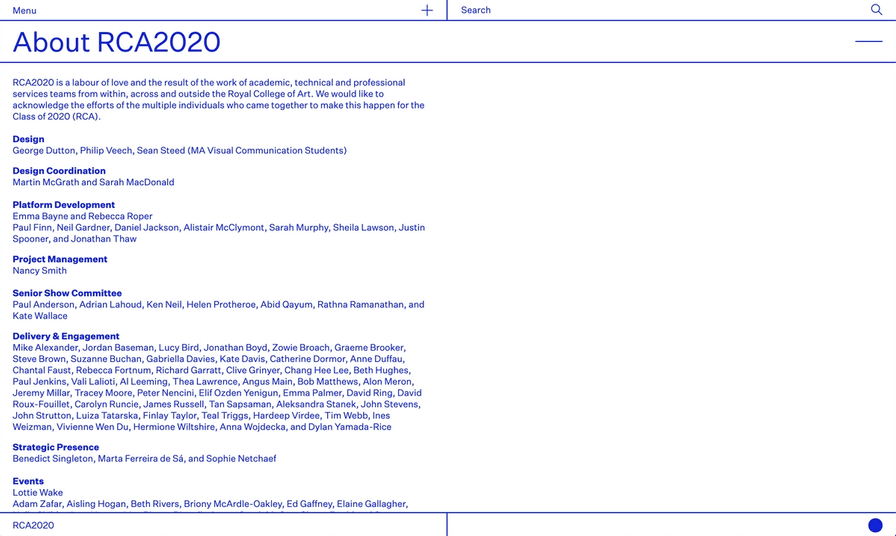About RCA2020