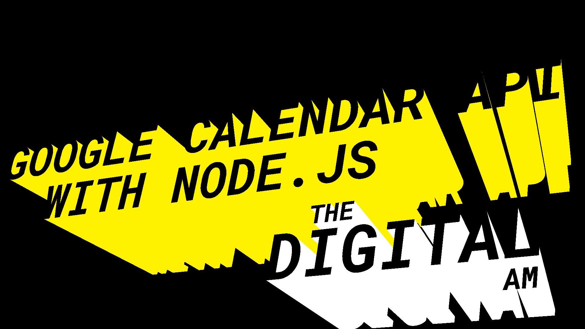 google calendar api with node.js