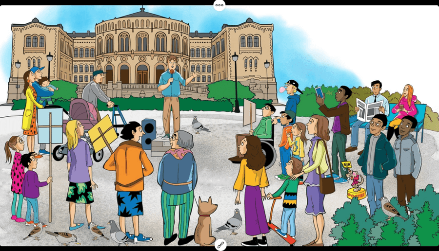 I Refleks har hvert oppslag en tilhørende illustrasjon eller foto. Illustrasjon eller foto supplerer teksten som utgangspunkt for å svare på eller reflektere rundt spørsmål og arbeidsoppgaver. Illustrasjoner og foto brukes også som utgangspunkt for å lære sentrale begreper.