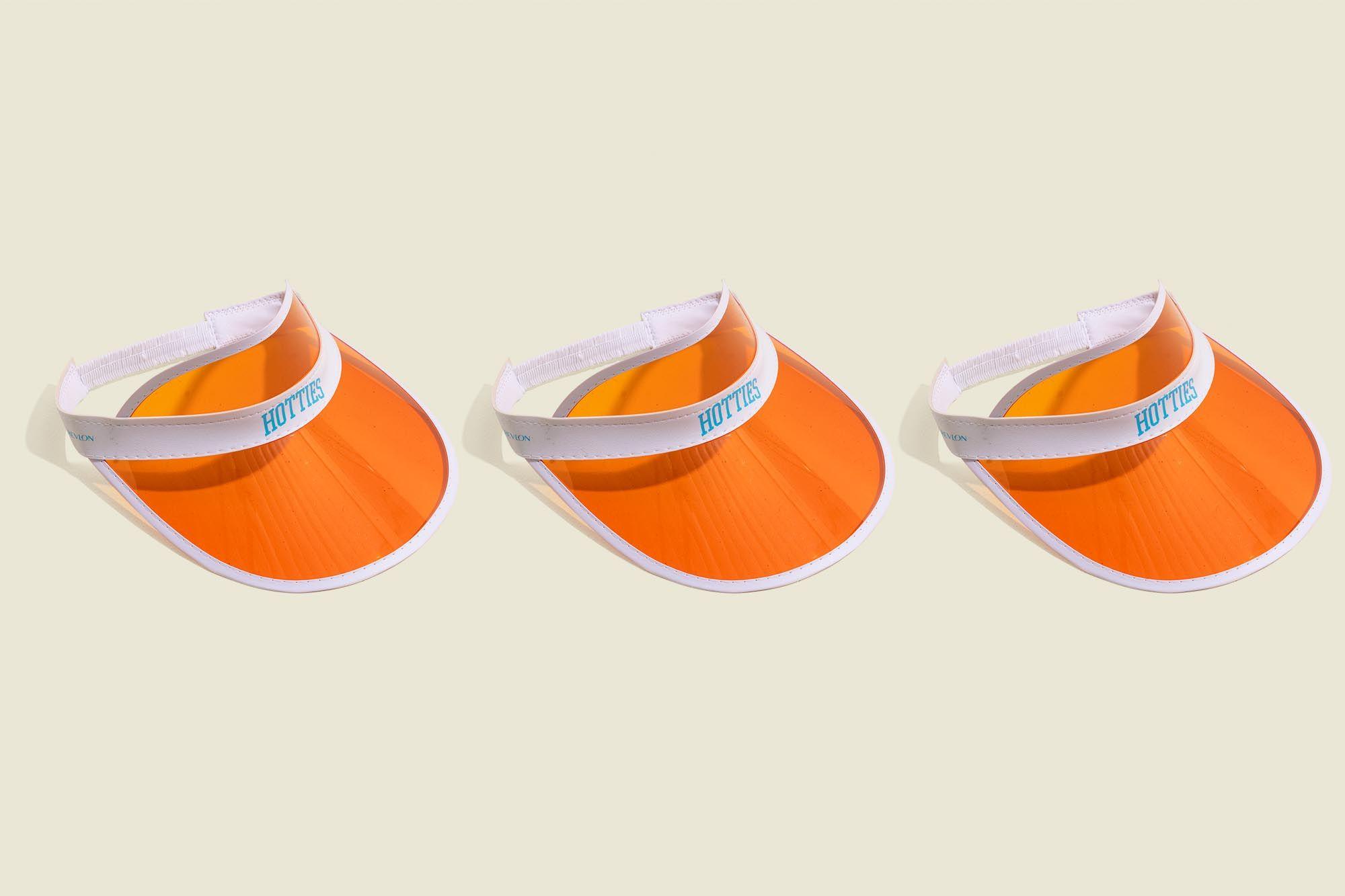 Set of visor hats