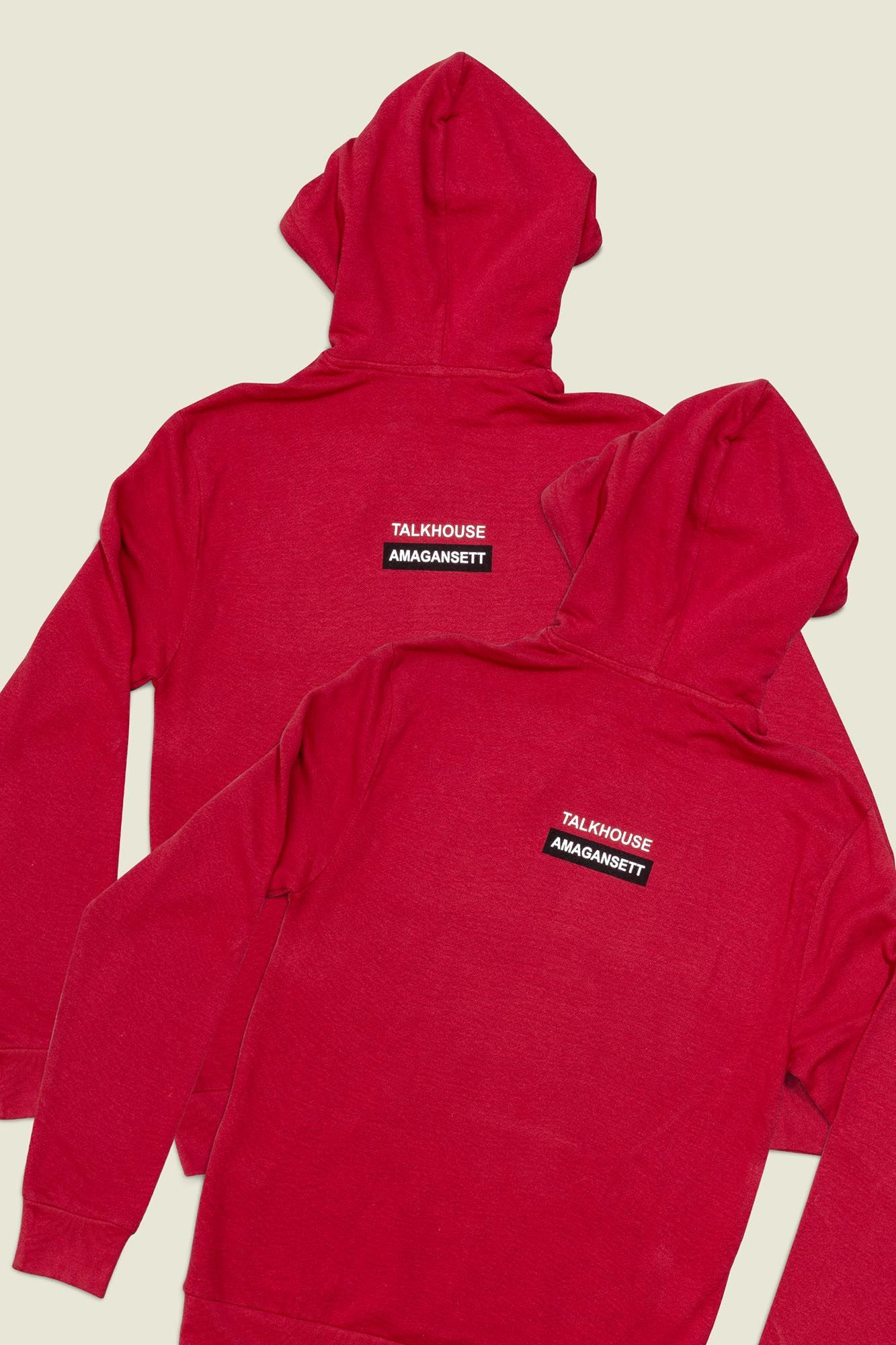 Red pullover hoodies