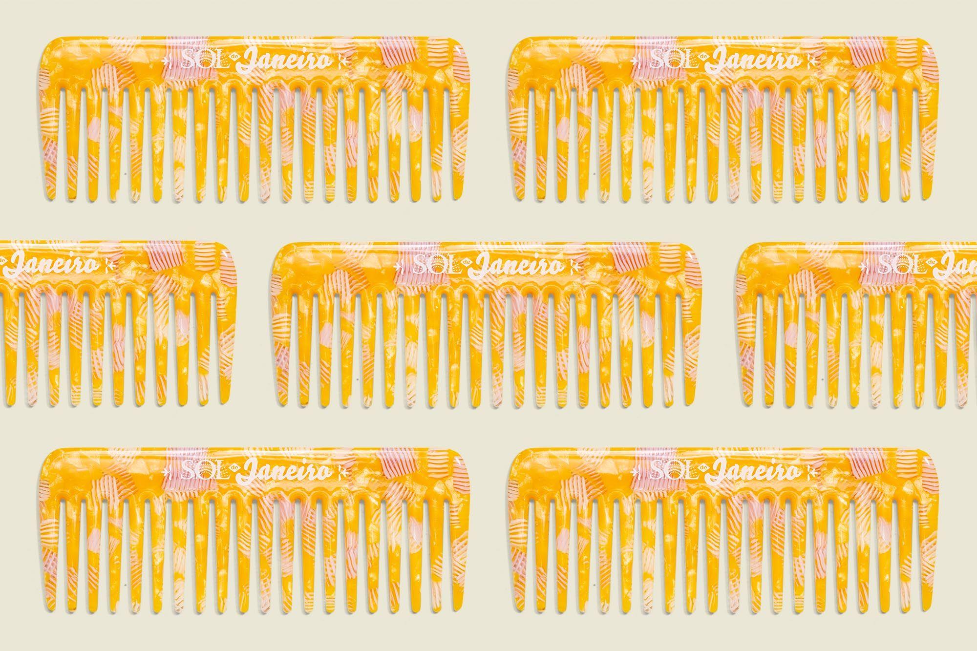 Custom printed hair comb