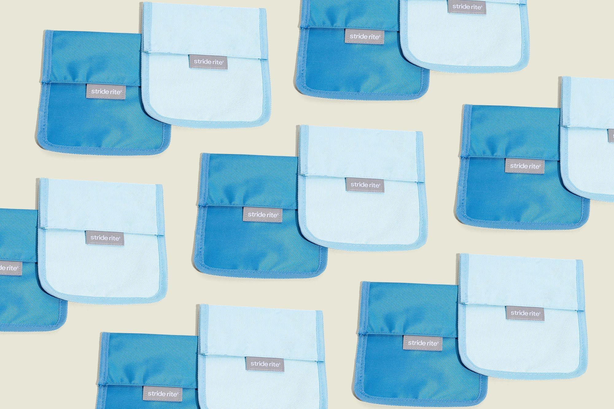 Blue flat pouches