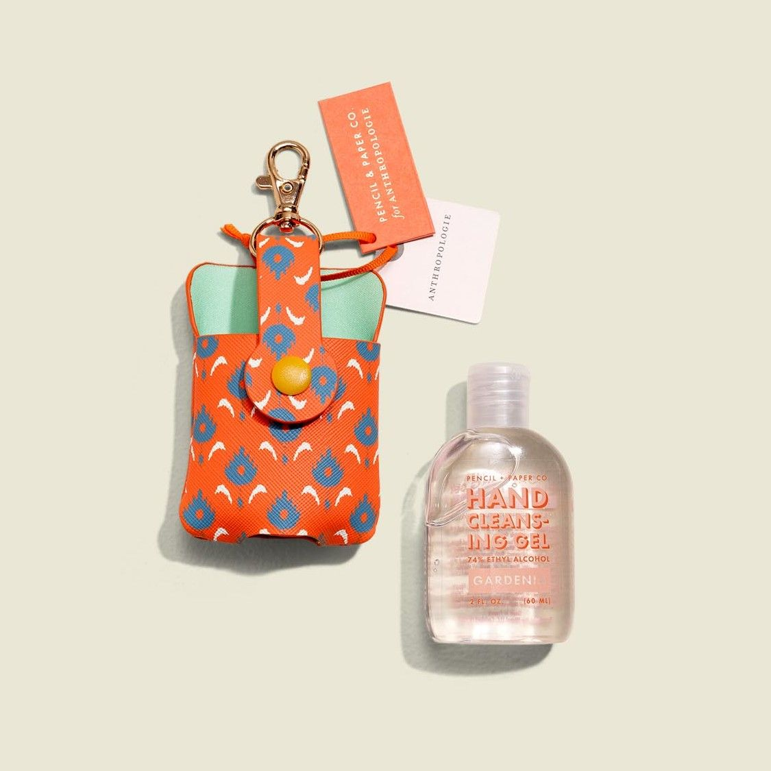 Small pouch with hand sanitizer
