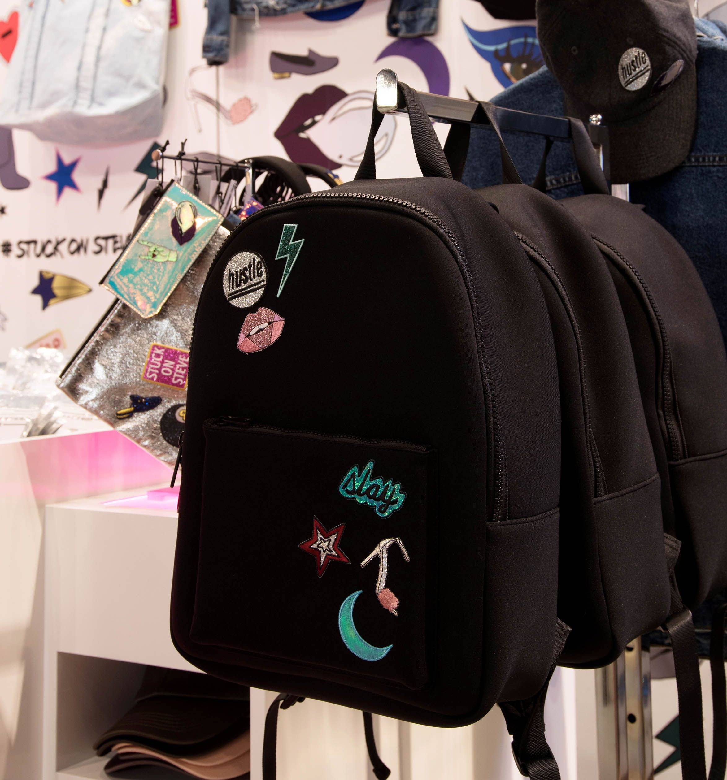 Backpacks and flat zip pouch