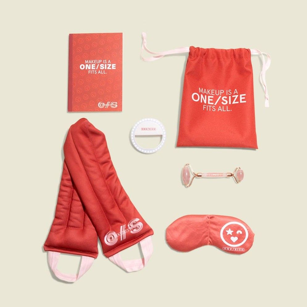 Collection of accessories with drawstring pouch