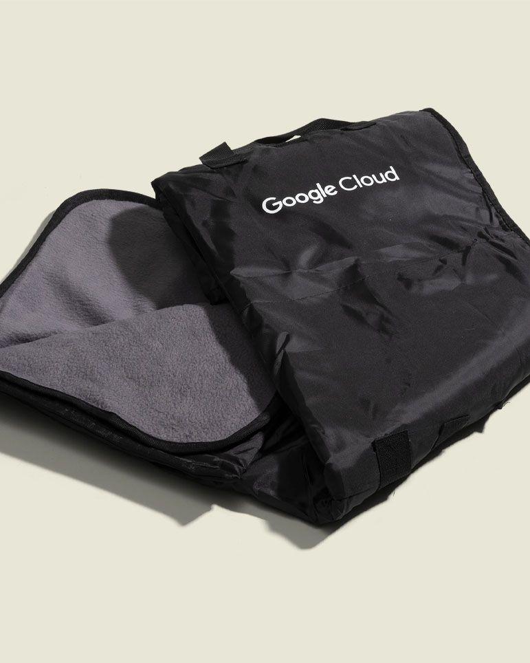 Black reversable blanket