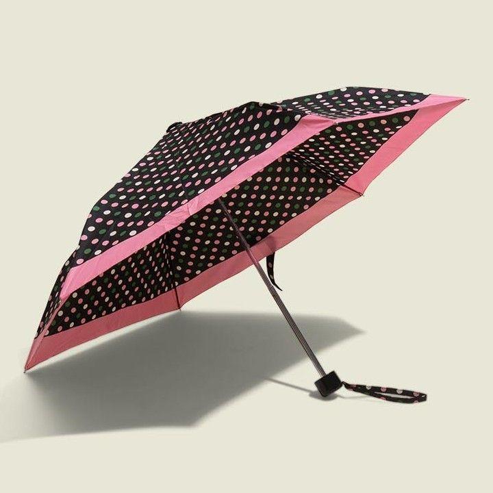 Opened polka dot umbrella
