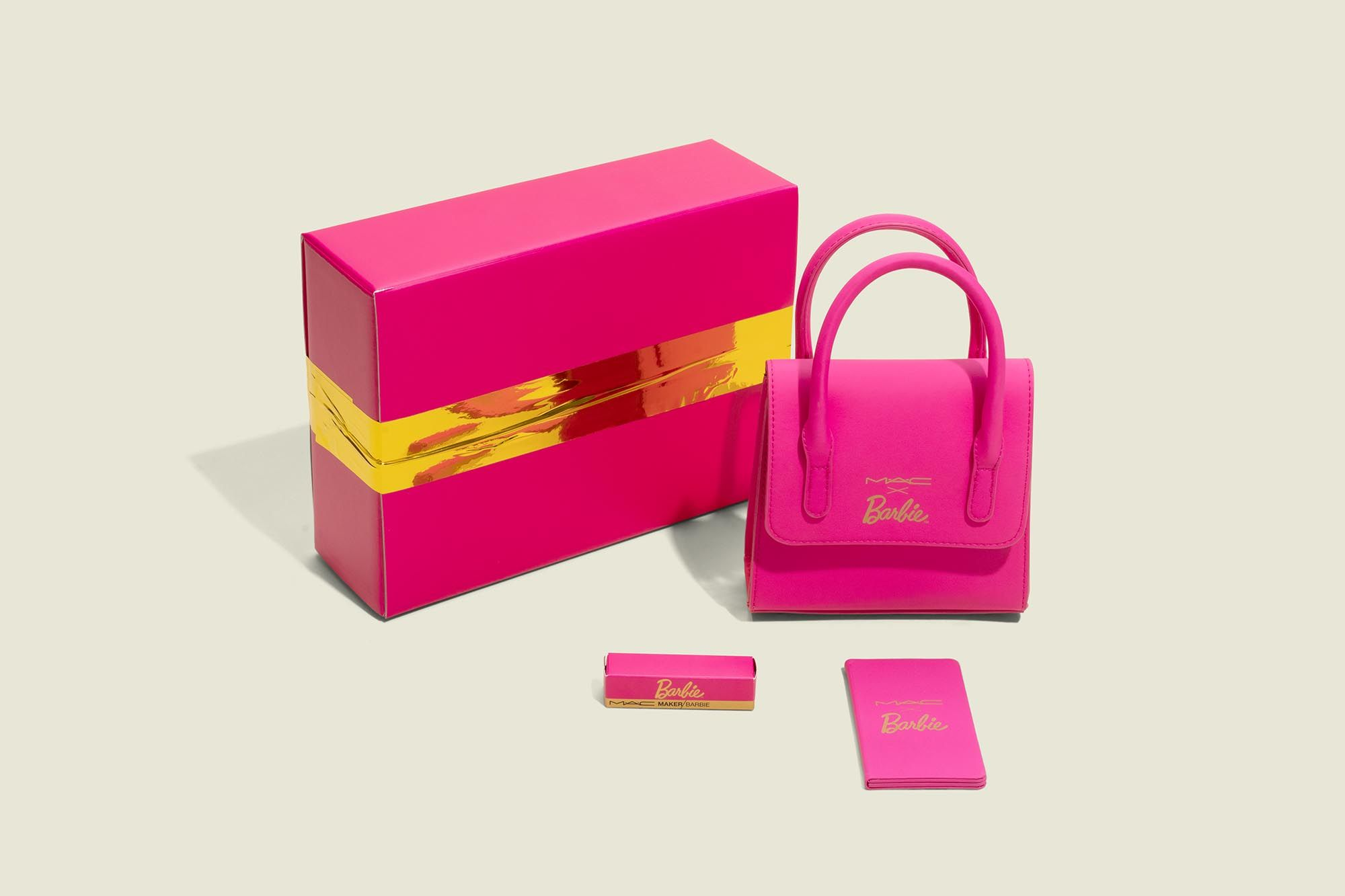 Custom packaging with handbag and beauty products