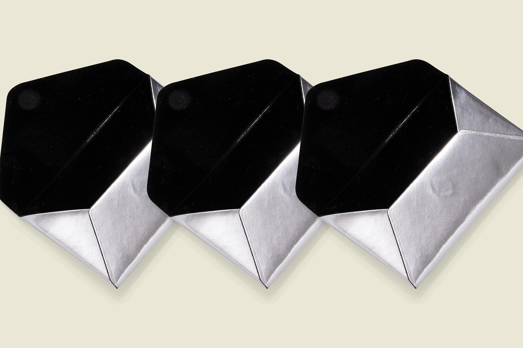 Flat silver pouches