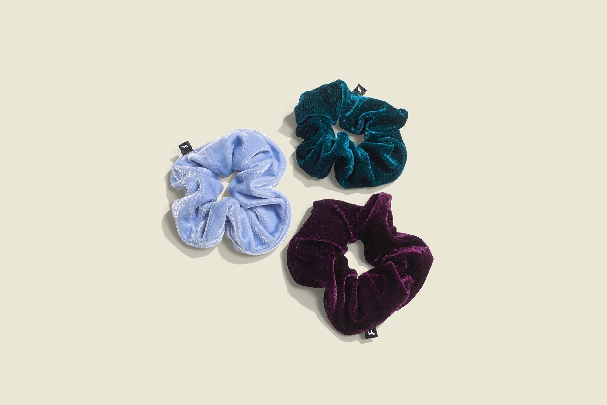 three scrunchies