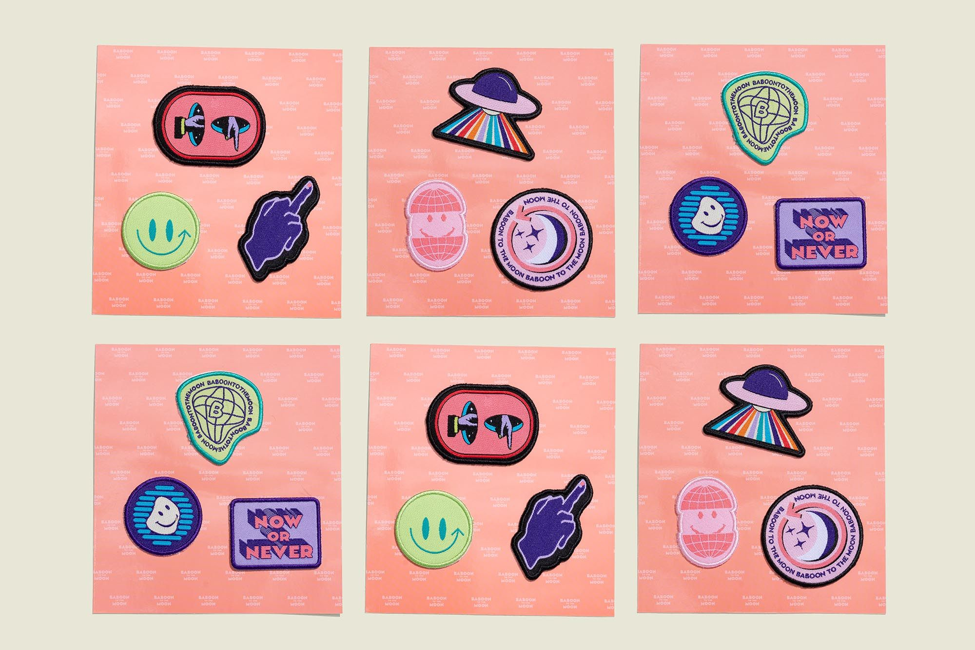 Collection of embroidered patches