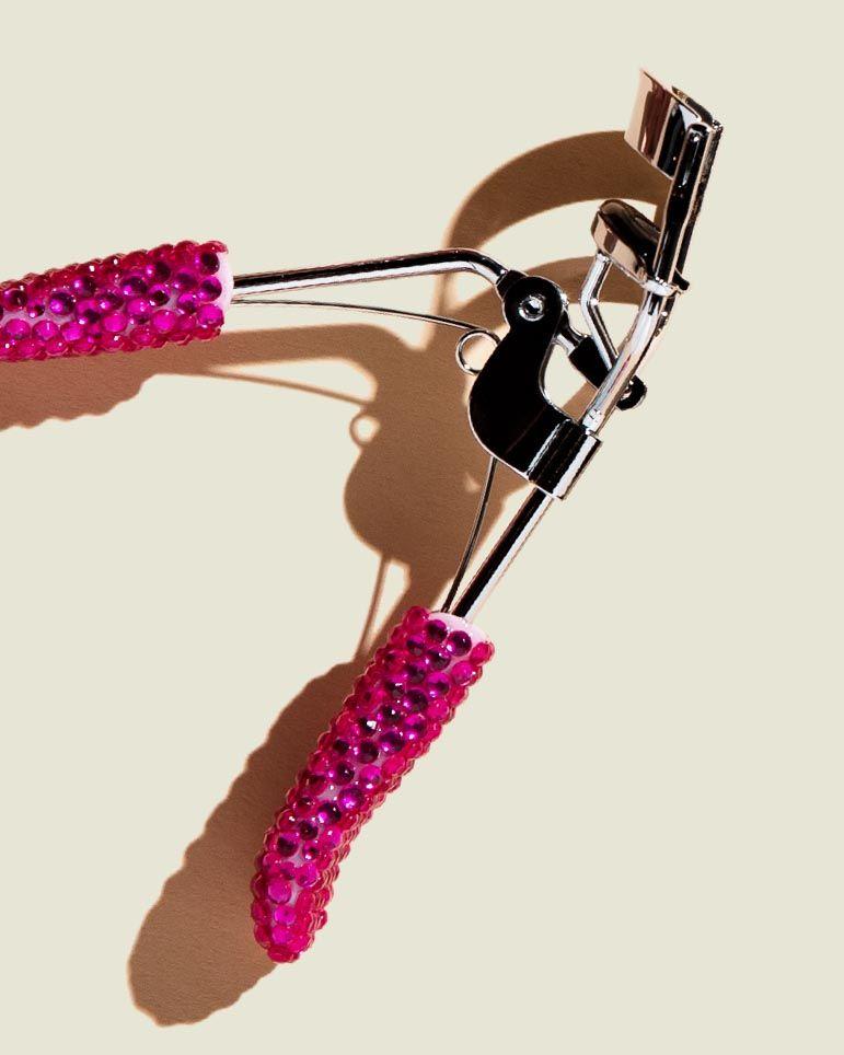 Glitter handle eyelash curler