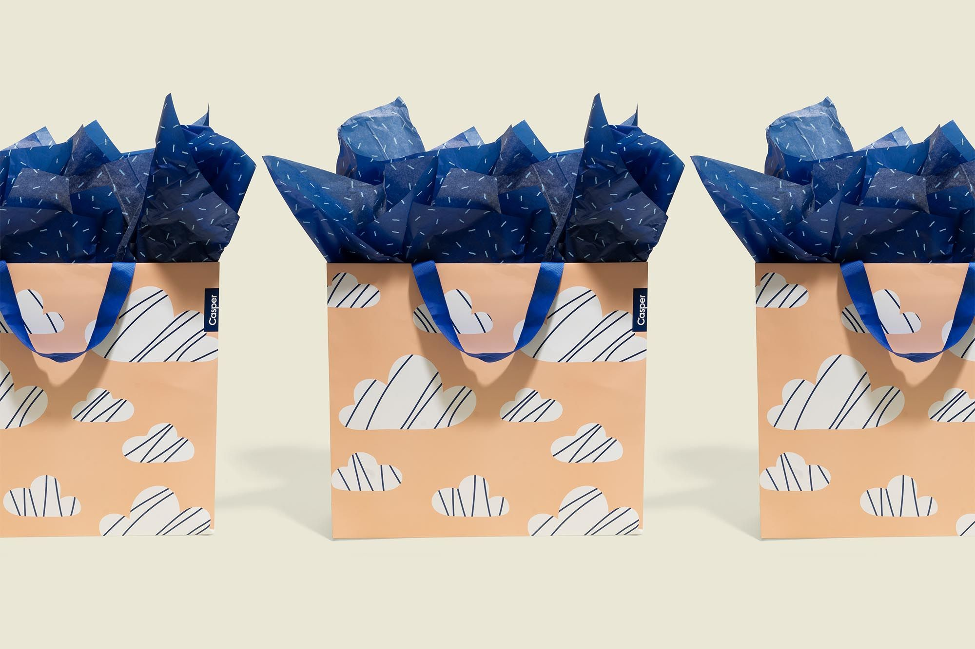 Three Gift bags with tissue paper