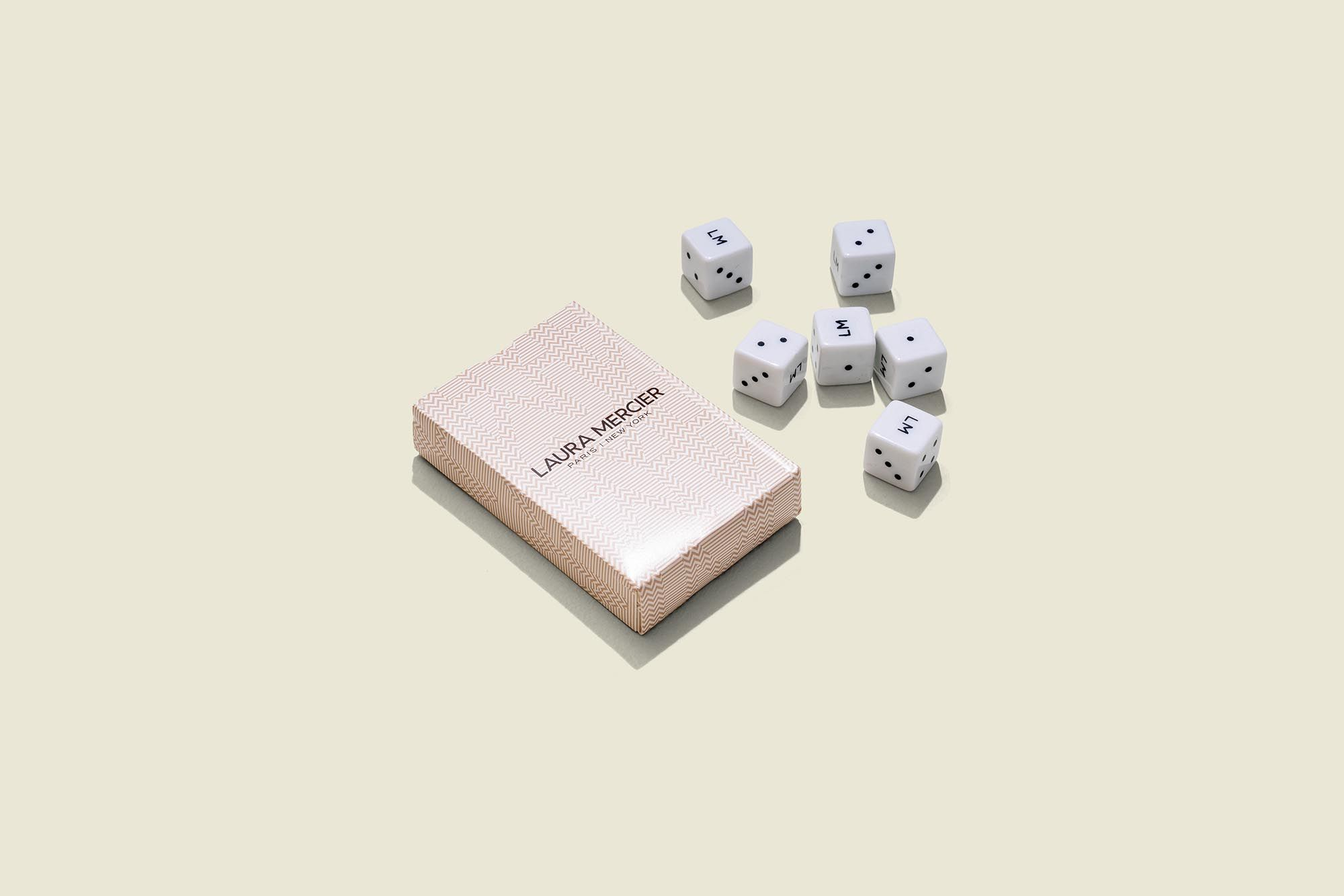 Card pack with dices