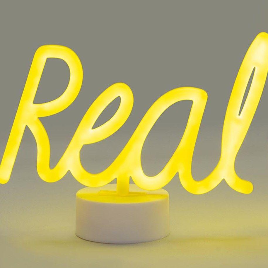 Light up words lamp