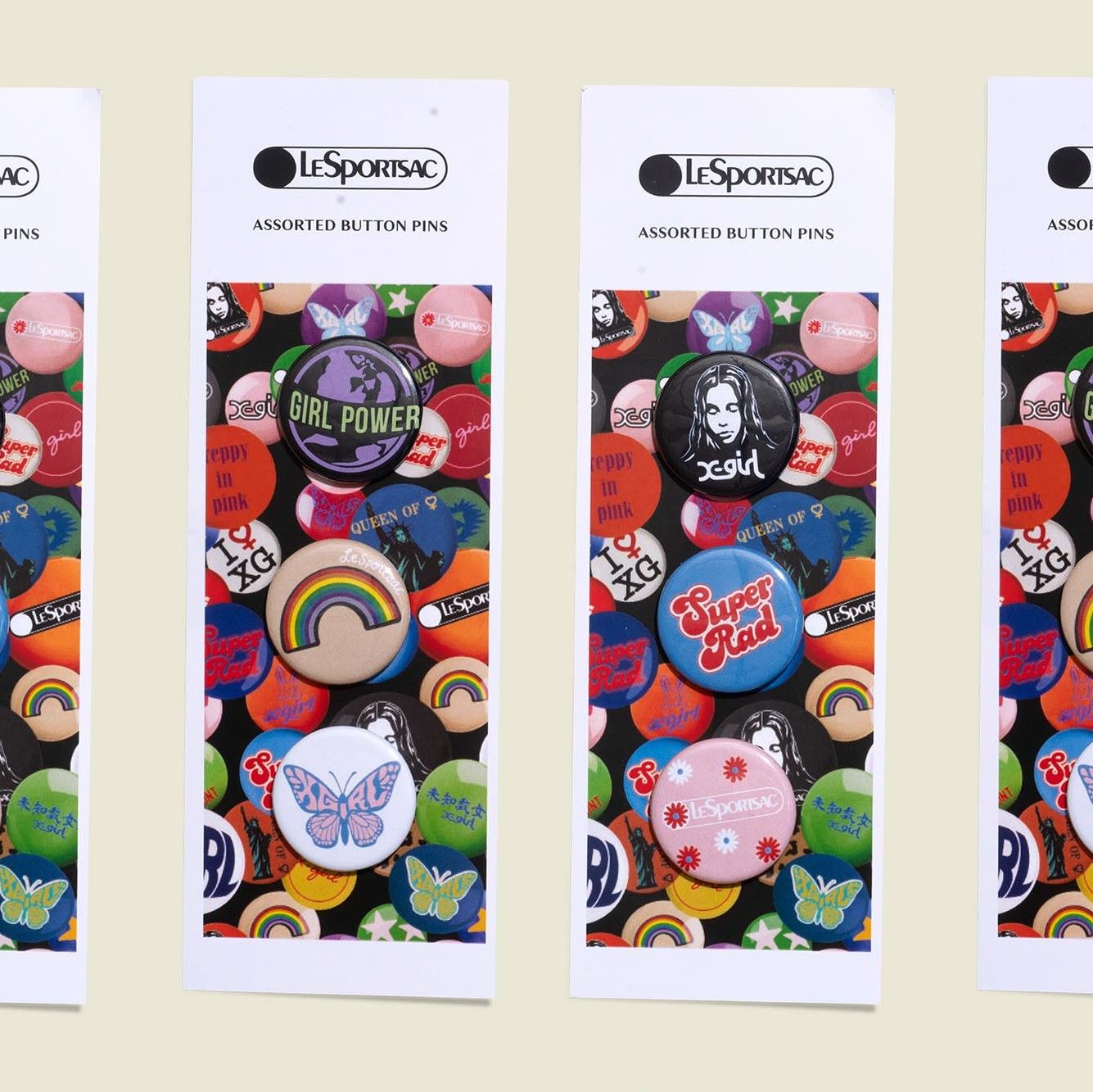 Custom packaging with pin buttons