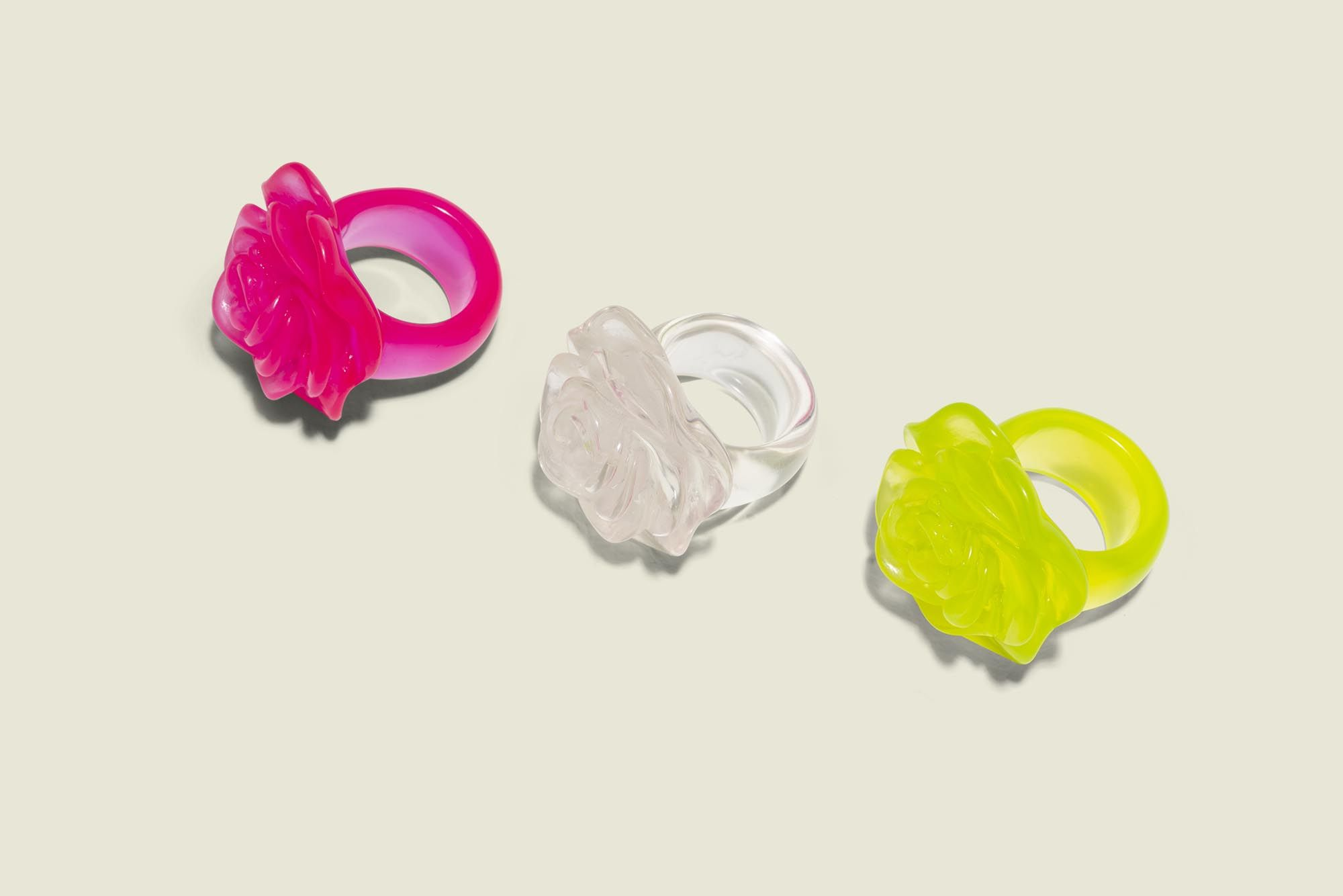 Floral shaped rings