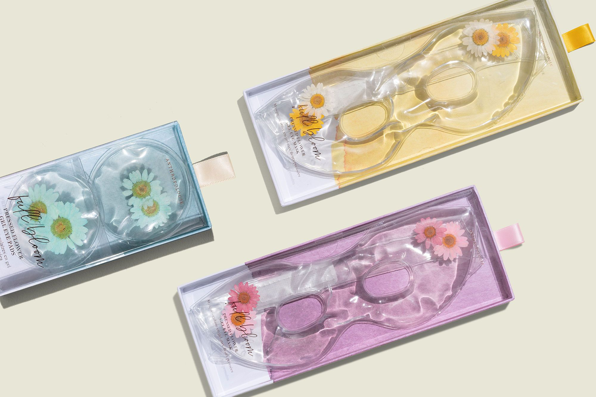 Custom packaging with eye mask and eye pads