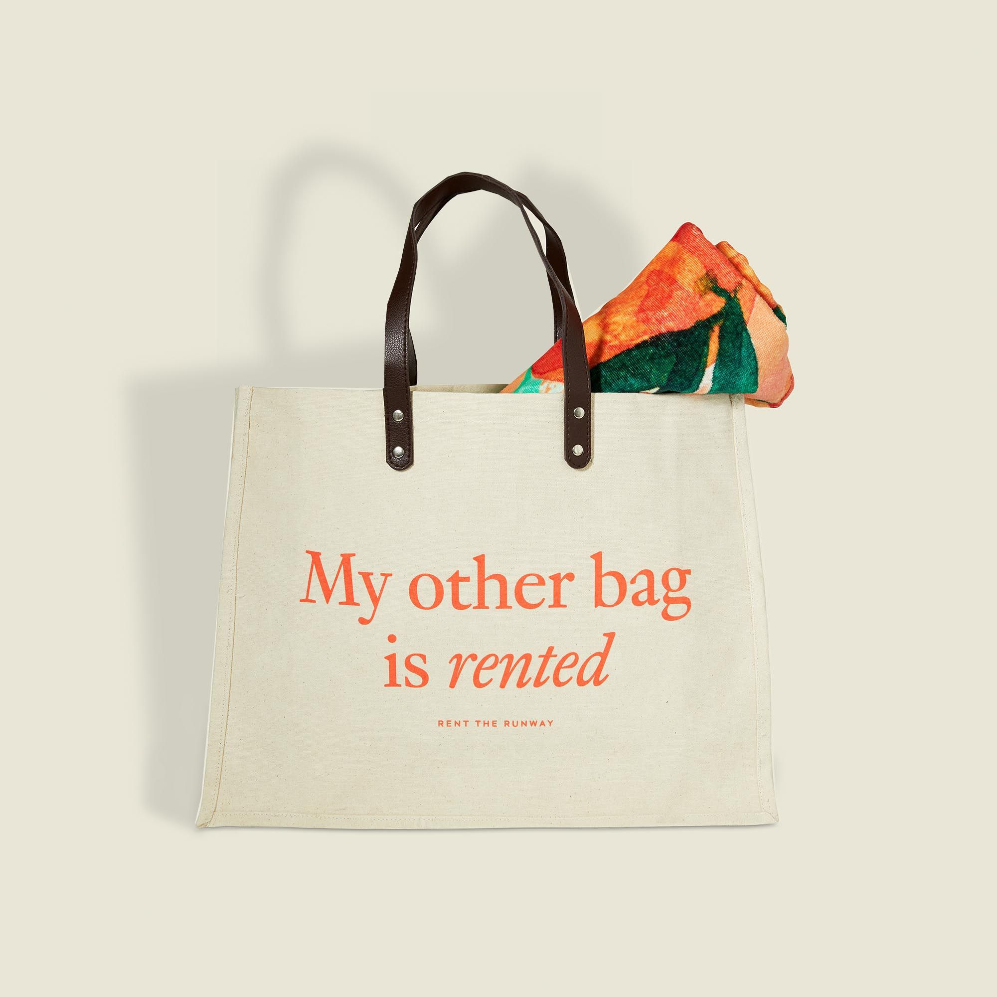 Tote bag with towel
