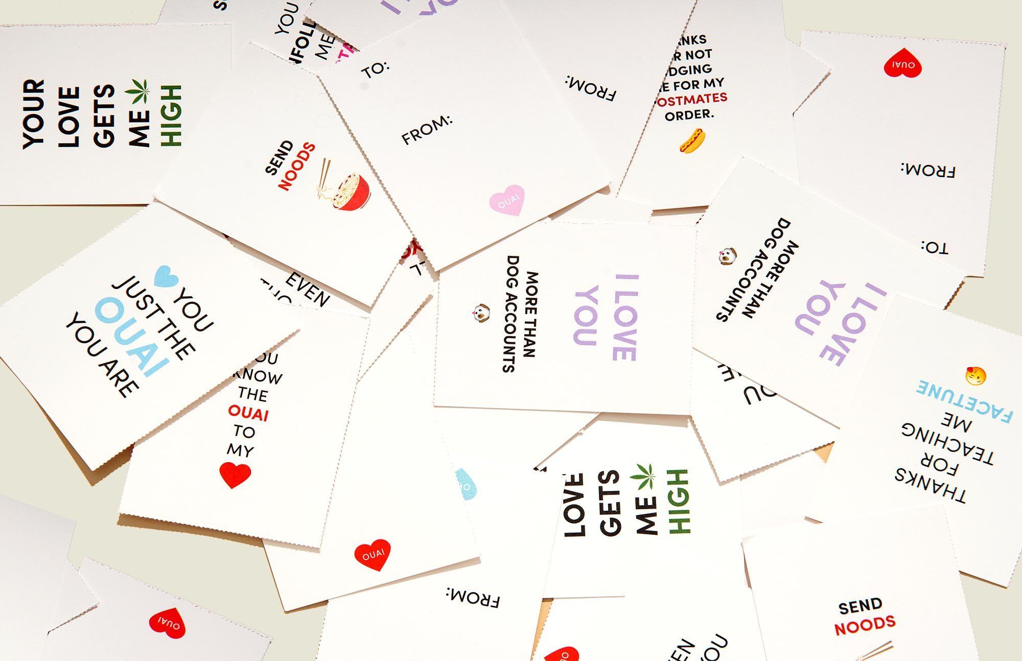 Custom printed cards