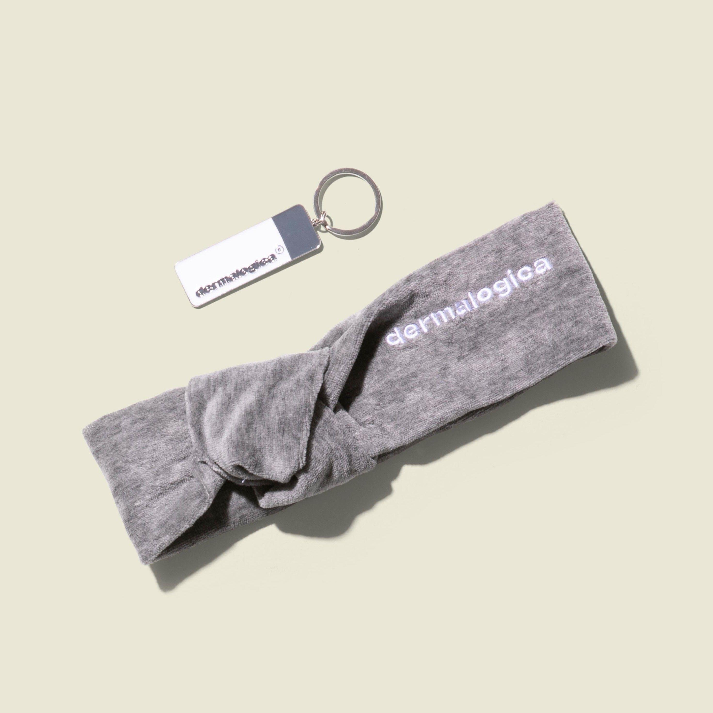 Grey headband with keychain