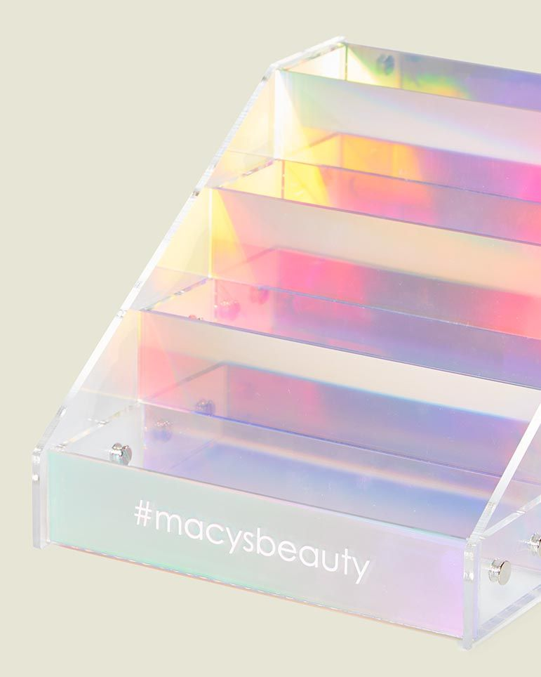Custom beauty supply shelf